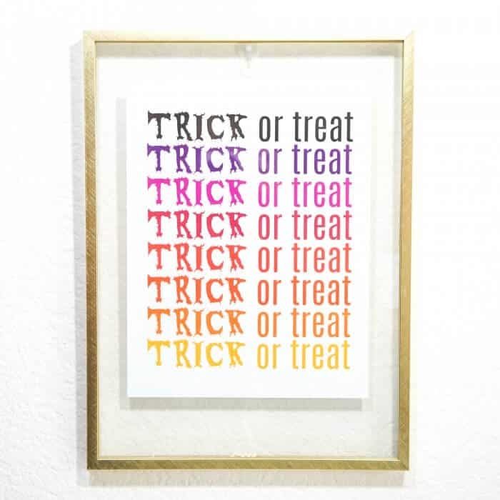 Trick or Treat Halloween Printable