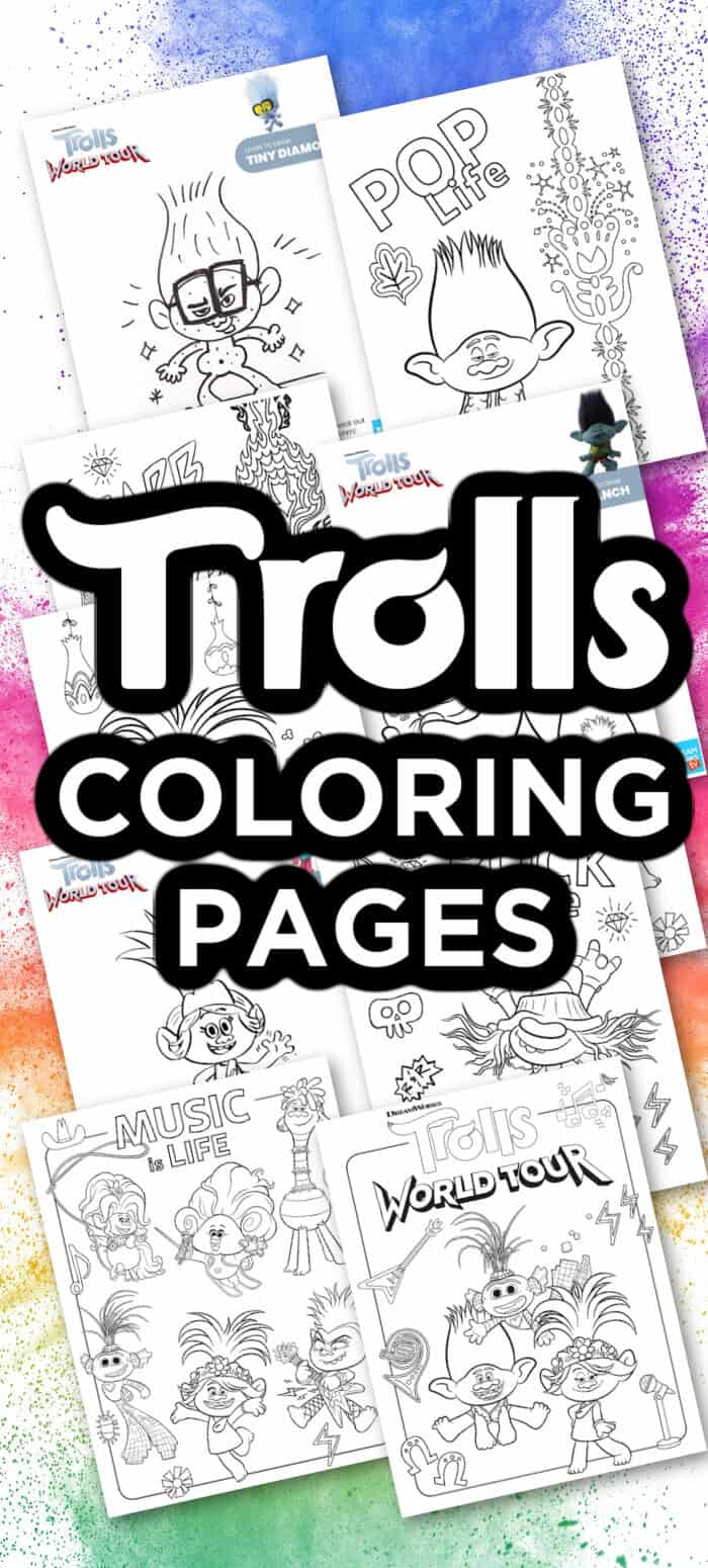 Trolls Free Printable Coloring Pages