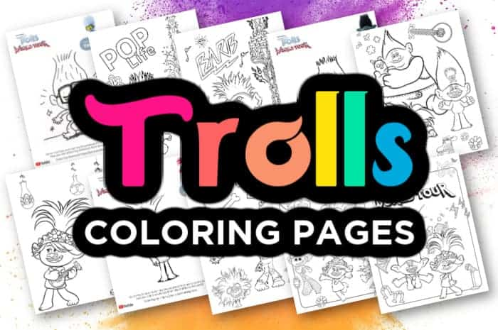 Printable Trolls Coloring Pages