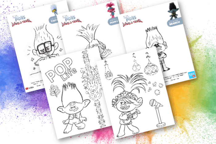 Coloring Pages for Kids with trolls