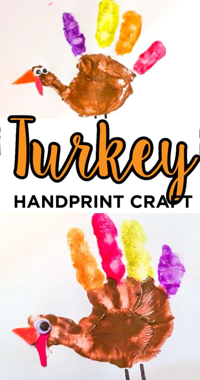 Turkey Handprint Crafts for Preschoolers
