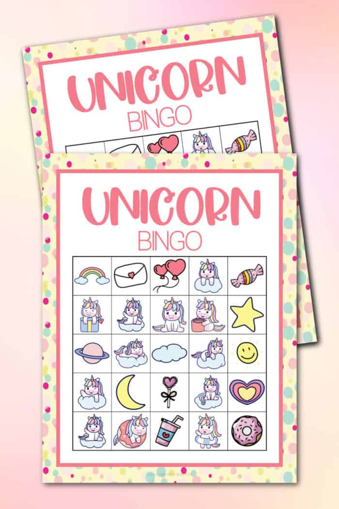 Unicorn Bingo Cards