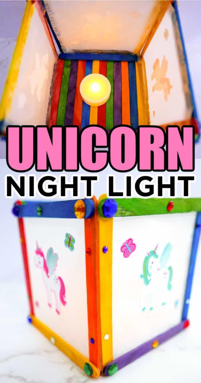 Popsicle Craft For Unicorn Night Light