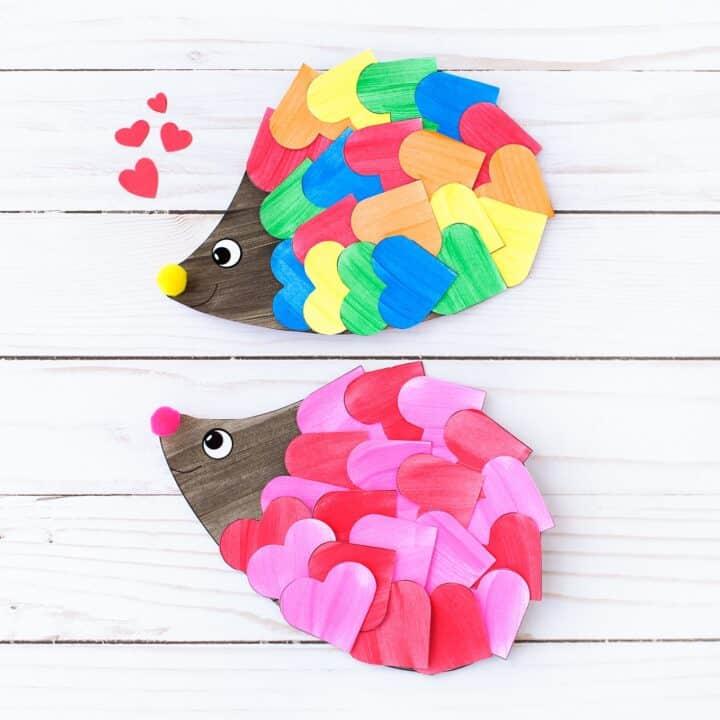 Paper heart Hedgehog