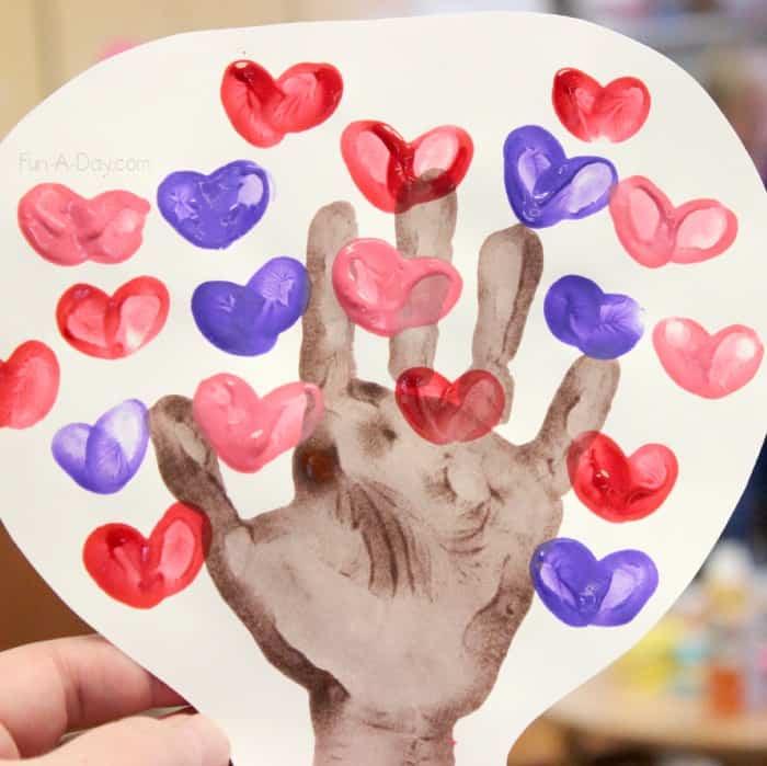 Heart Handprint Tree