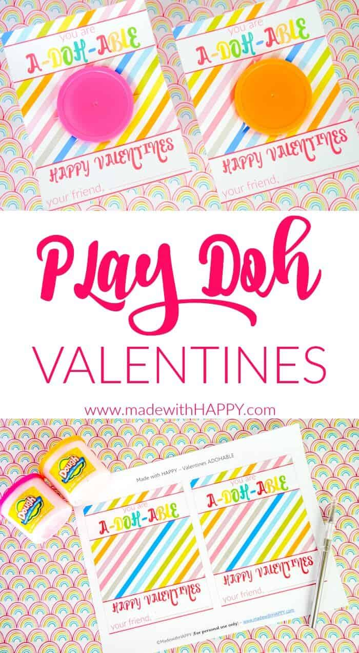 image about Play Doh Valentine Printable referred to as Engage in Doh Valentines - Created with Joyful