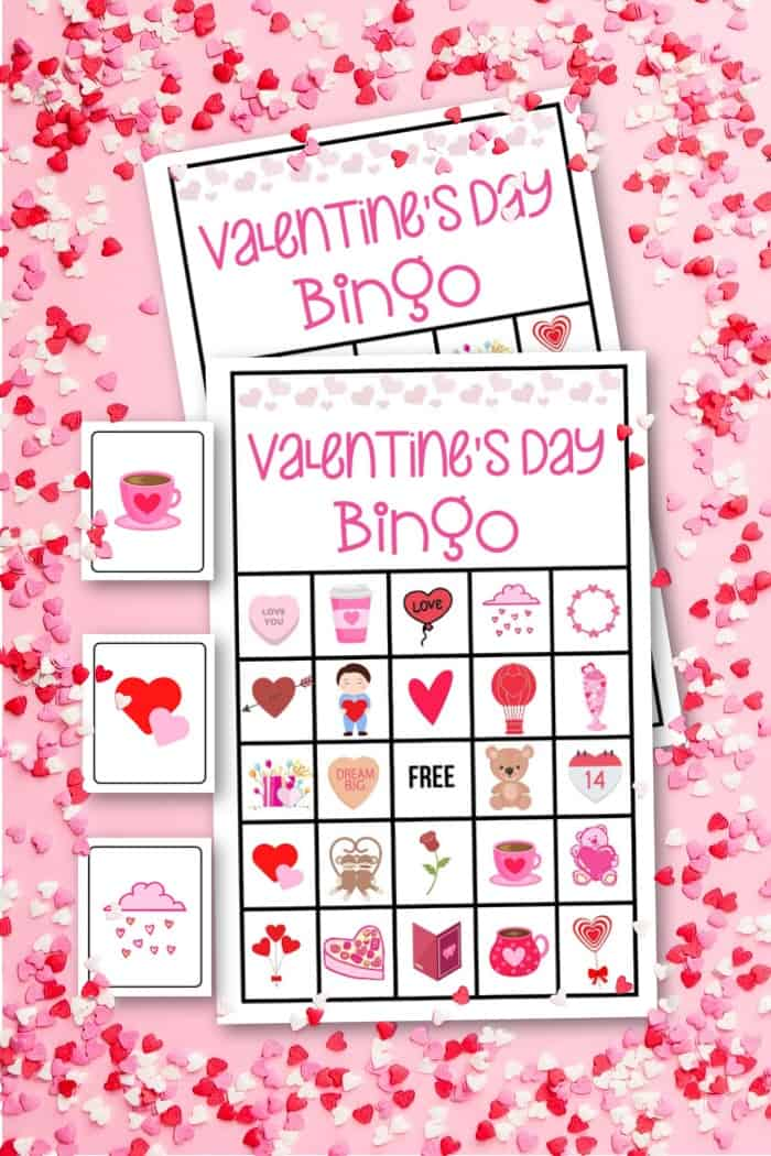 Valentine's Day Bingo Cards and Calling Cards
