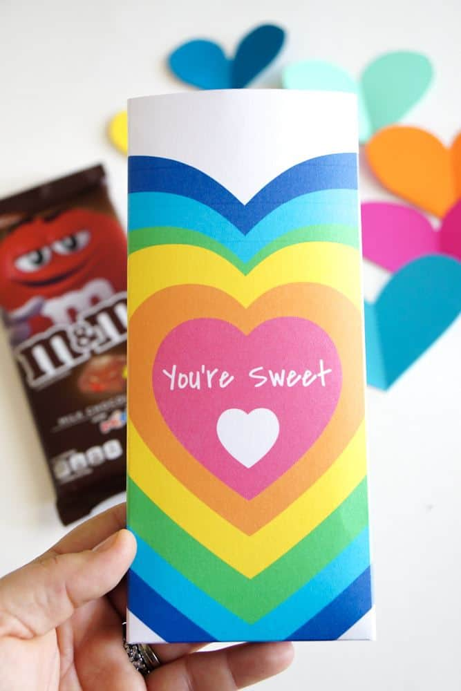 VALENTINES DIY CANDY BAR WRAPPERS