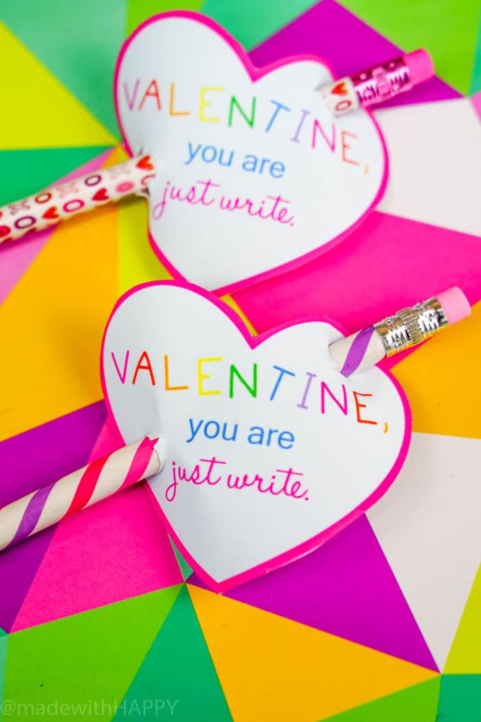 Pencil Valentines Day Printables