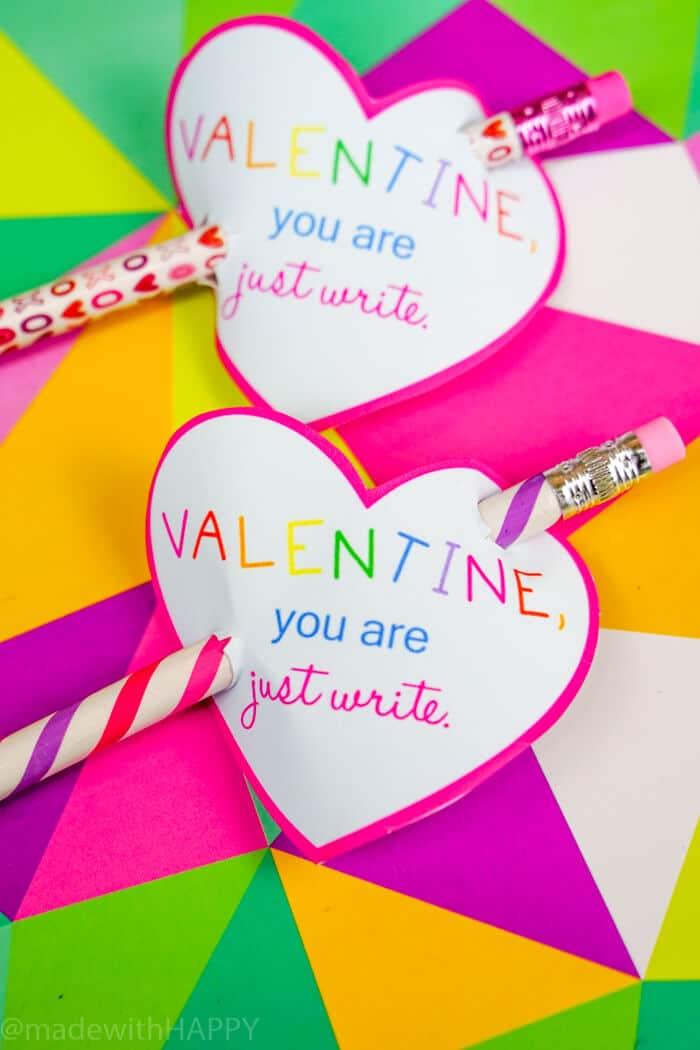 Pencil Valentines Day Printables