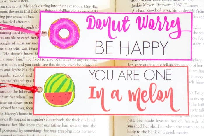 Donut Worry Be Happy. Valentines Day Puns. Valentines Day Bookmarks. Cute Valentines Day Puns. Donut Worry Be Happy. You are one in a melon. Fun Valentines day puns. Bookmark Puns. Non-Candy Valentines Day Ideas. Food Puns for Valentines Day!