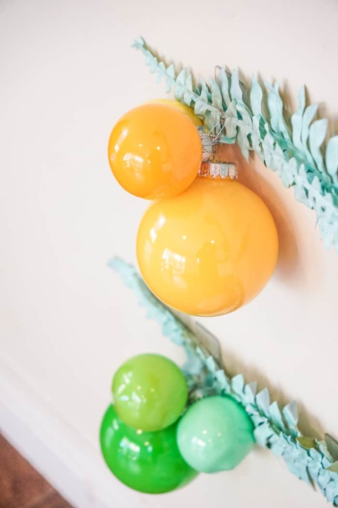 Bright Paint filled ornaments.