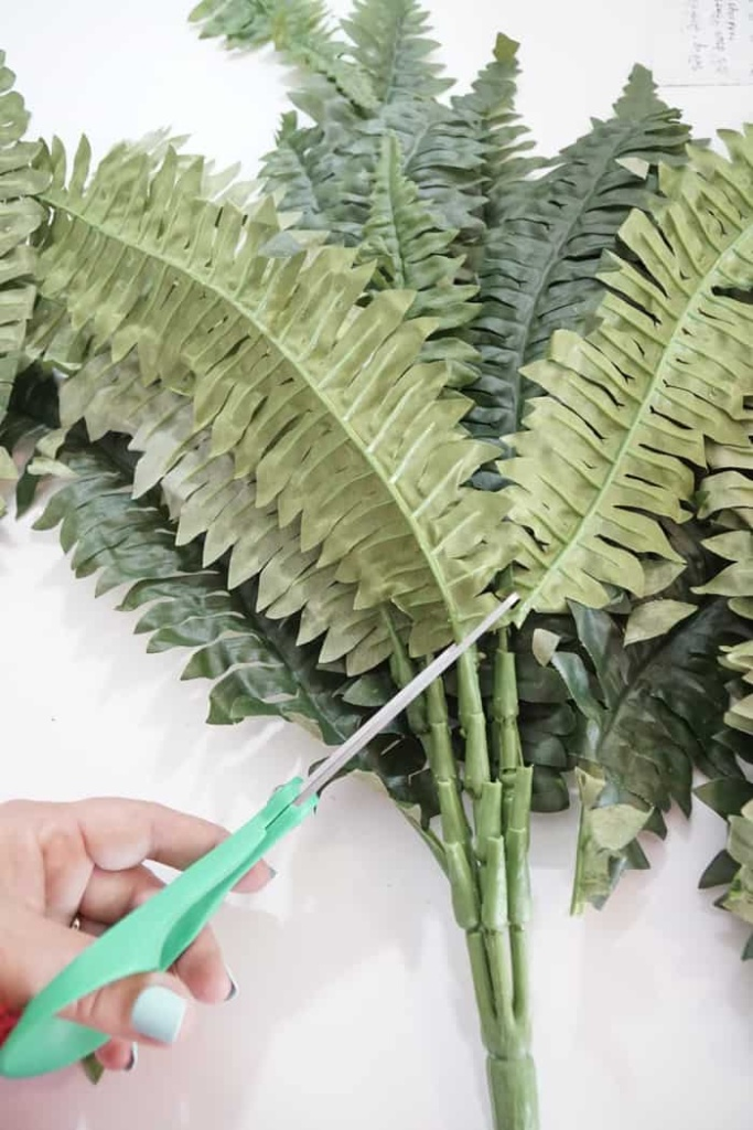 Faux Fern Leaves