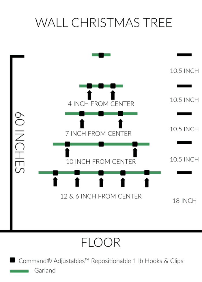 Wall Christmas Tree Dimensions