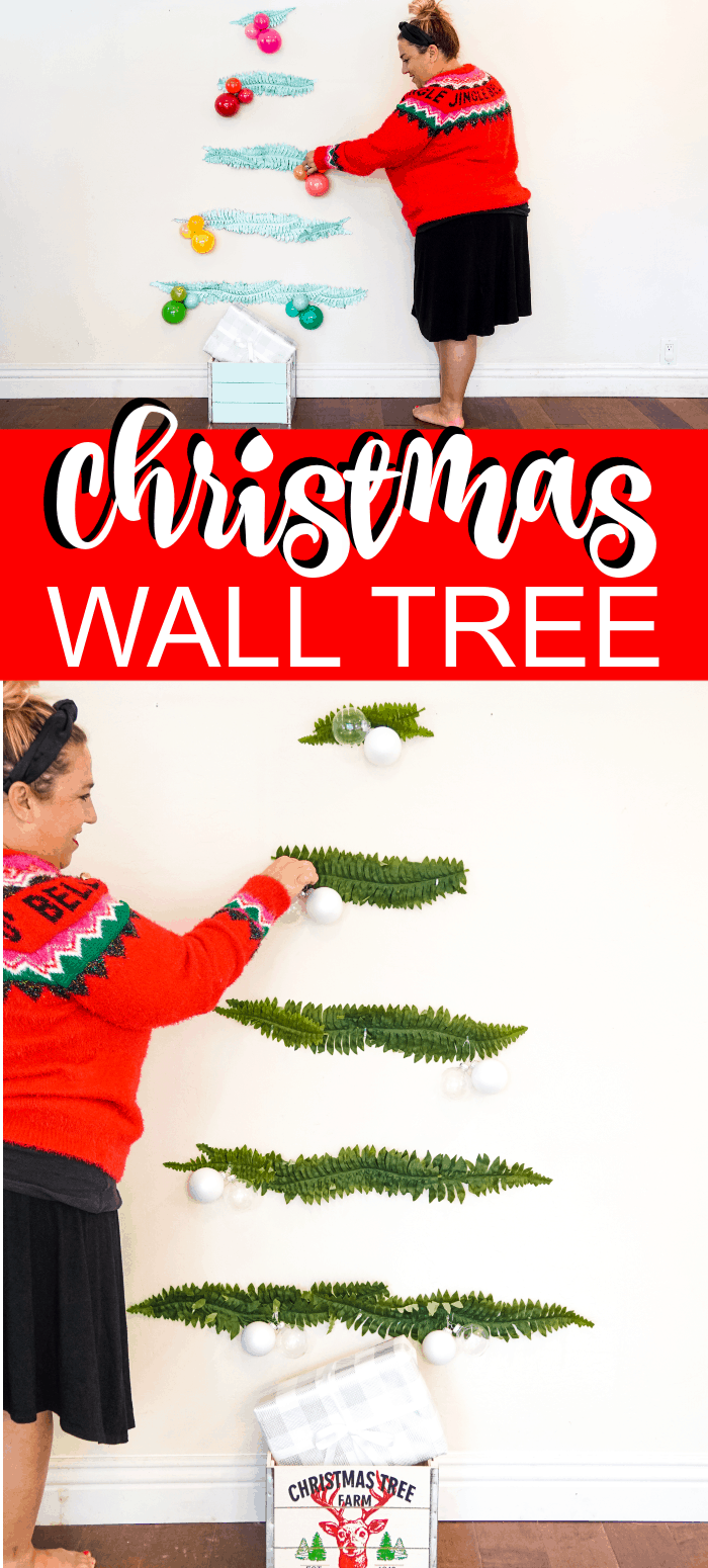 Vertical Image of Wall Hanging Christmas tree