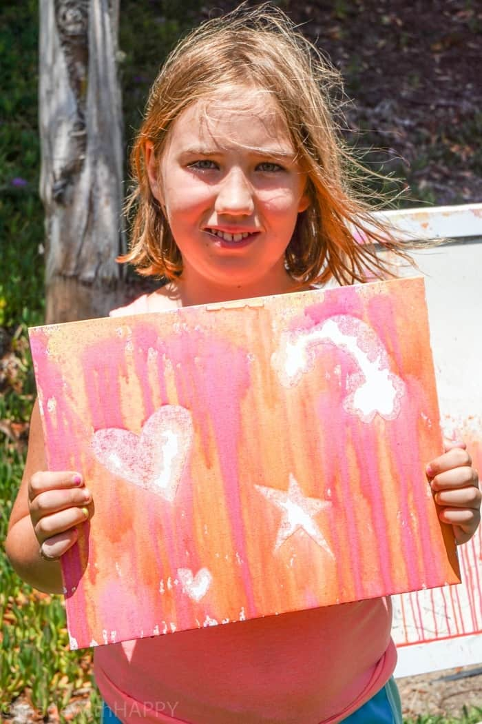 Water Gun Painting in Summer.Water gun painting. Looking for Summer activities for the kids? The kids LOVE water gun painting throughout the Summer.