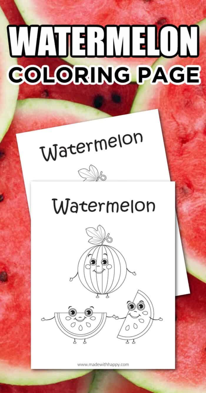 Printable Watermelon Coloring Sheet