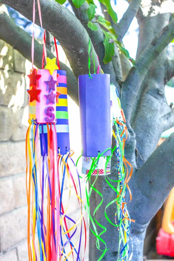 Hanging Paper Windsocks