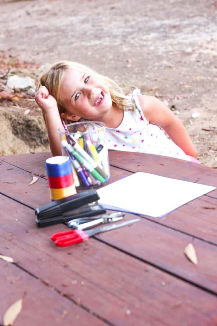 Girl Making Crafts