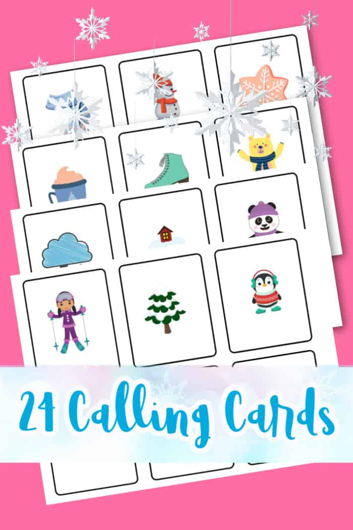 Bingo Calling Cards for Winter
