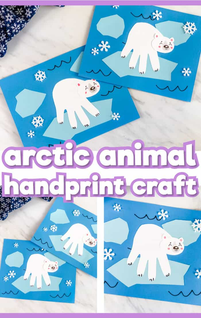 artic animal handprint craft