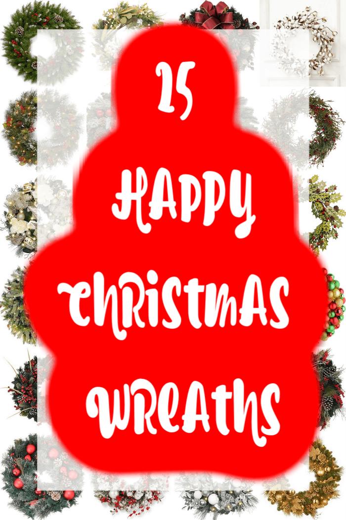 25 happy Christmas wreaths