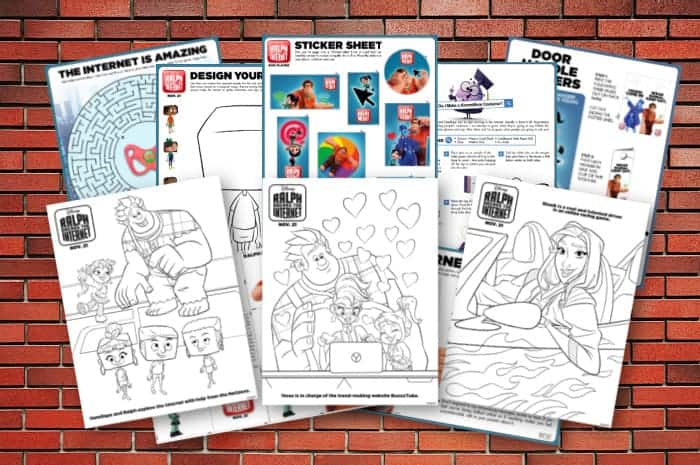 Activity Pages and Coloring Pages for Wreck it Ralph 2
