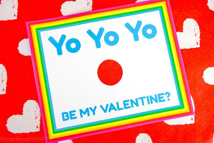 Yo-Yo Valentines Printable. Yo Yo Yo Be My Valentines!!! Fun Kids Valentines Ideas