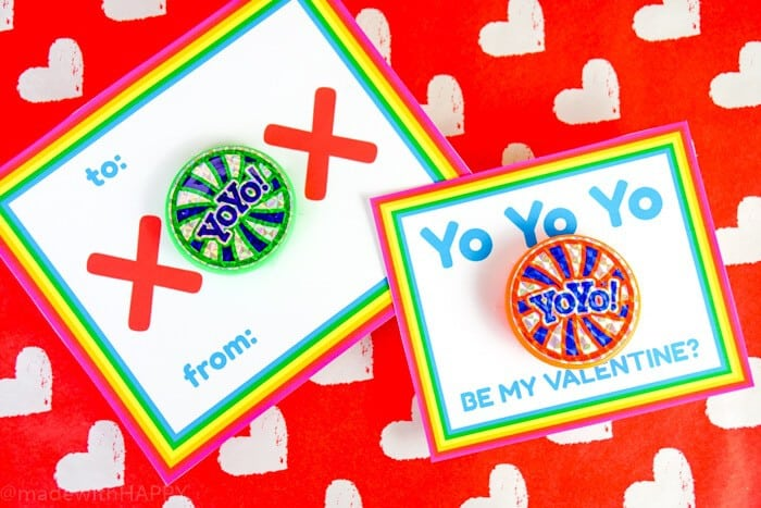 Yo-Yo Valentines Ideas. Kids Valentines Ideas with two different types of printable valentines.