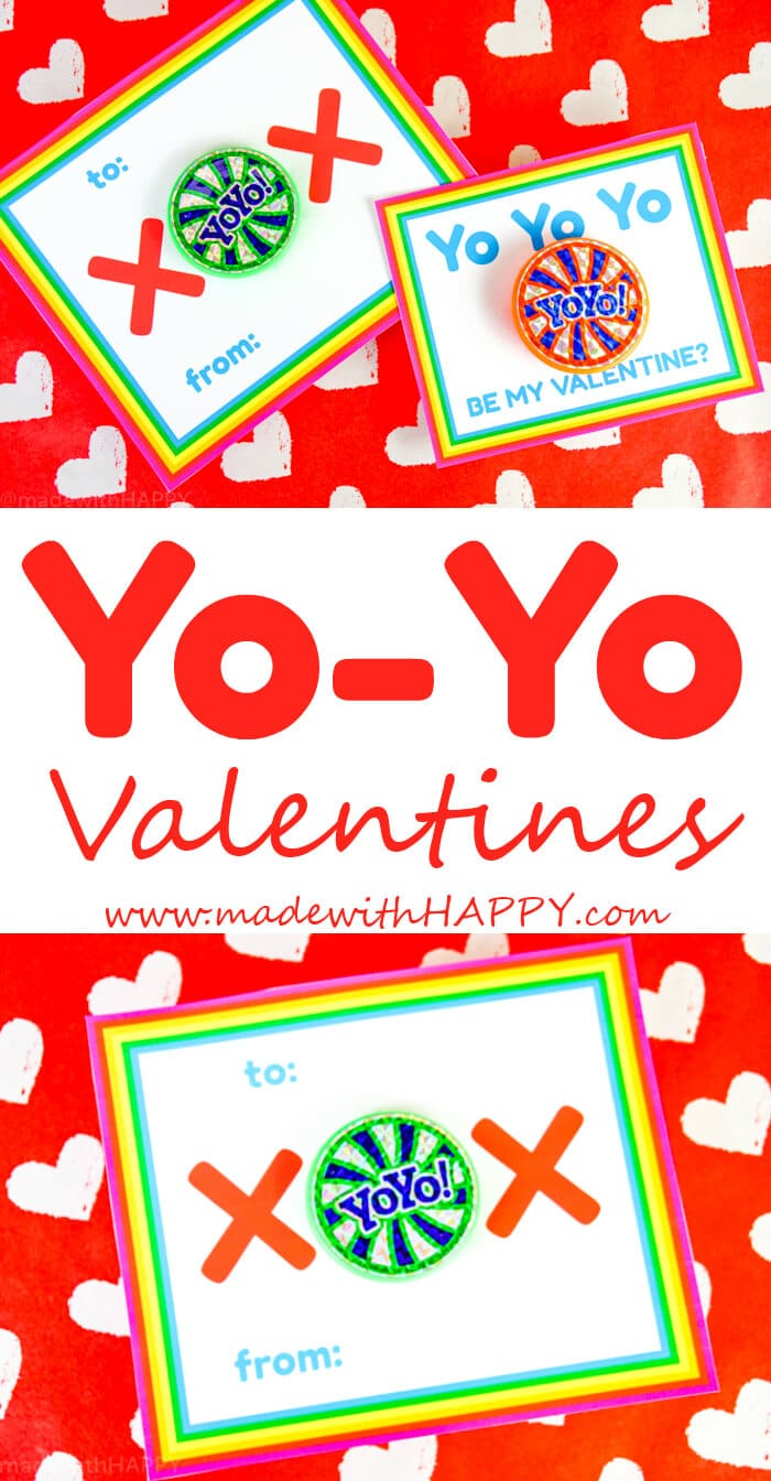 Kids Valentines Ideas using Yo-Yos. There are two different types of Yo-Yo Valentines Printable Options.