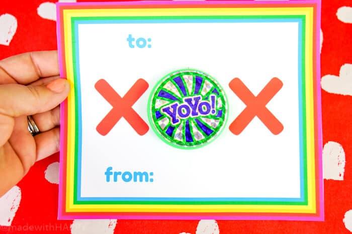 Rainbow Valentines Ideas using Yo-Yos. We love rainbow, we love yo-yos and we're putting together some amazing kids valentines ideas.