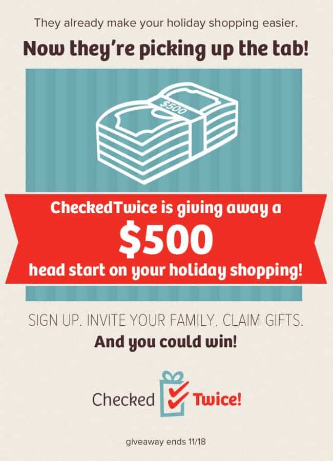 You could win $500 from Checked Twice