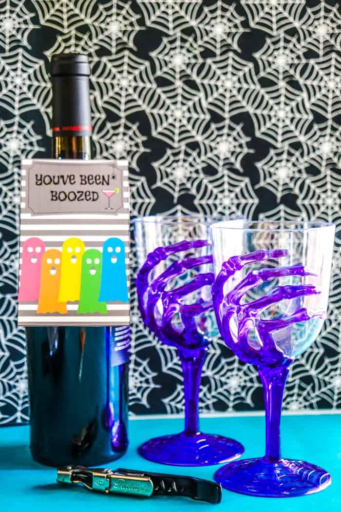rainbow ghost on a wine tag