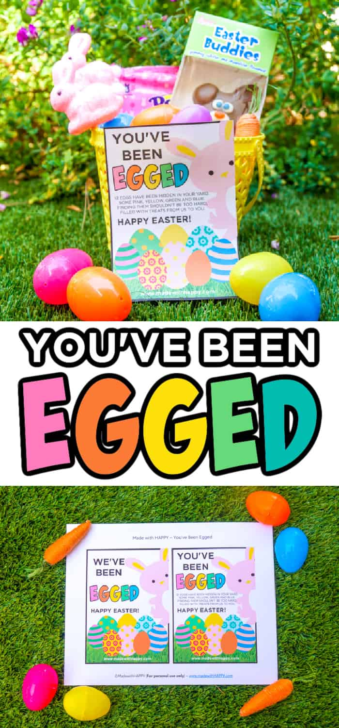 You've been egged Free Printable sign