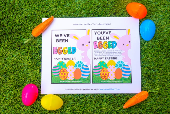 you ve been egged free printable