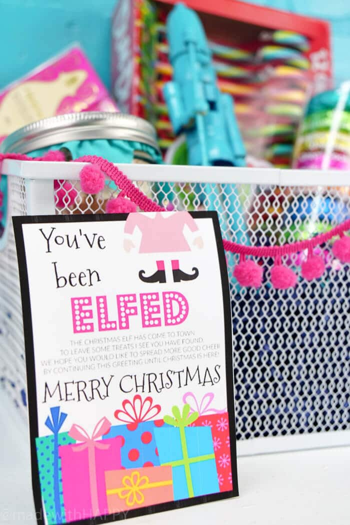 graphic about You Ve Been Elfed Printable titled Youve Been Elfed - Built with Joyful