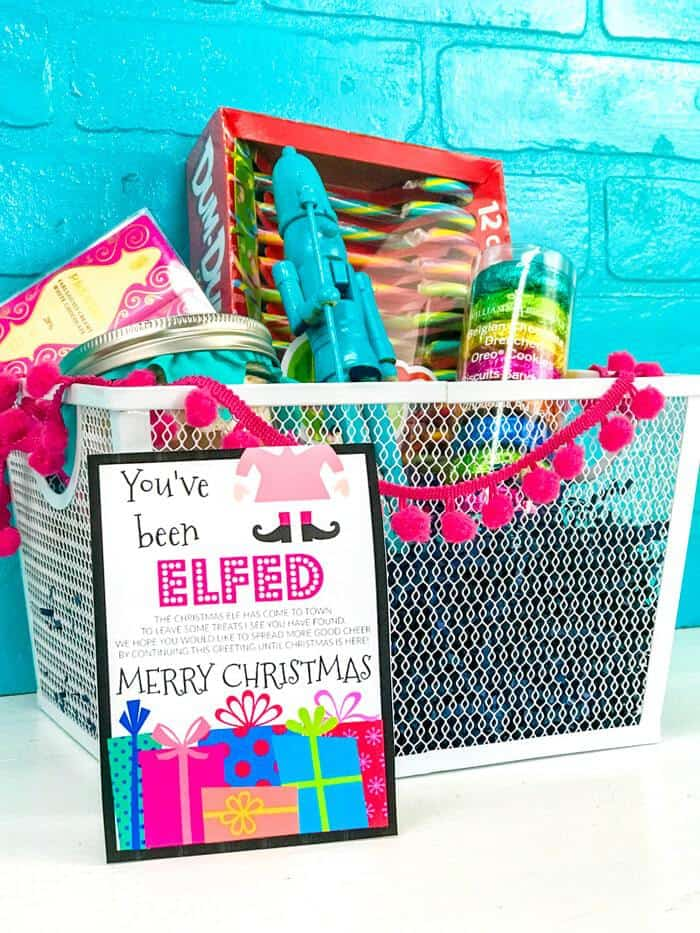You've Been Elfed Gift Basket