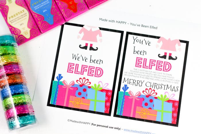 photograph about You've Been Elfed Free Printable referred to as Youve Been Elfed - Built with Content