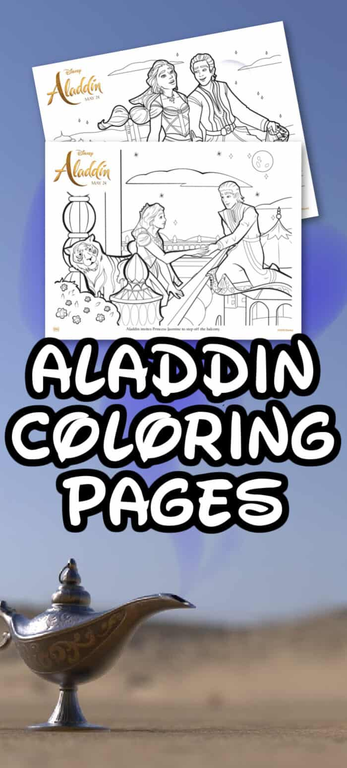 Disney Aladdin Coloring Sheets