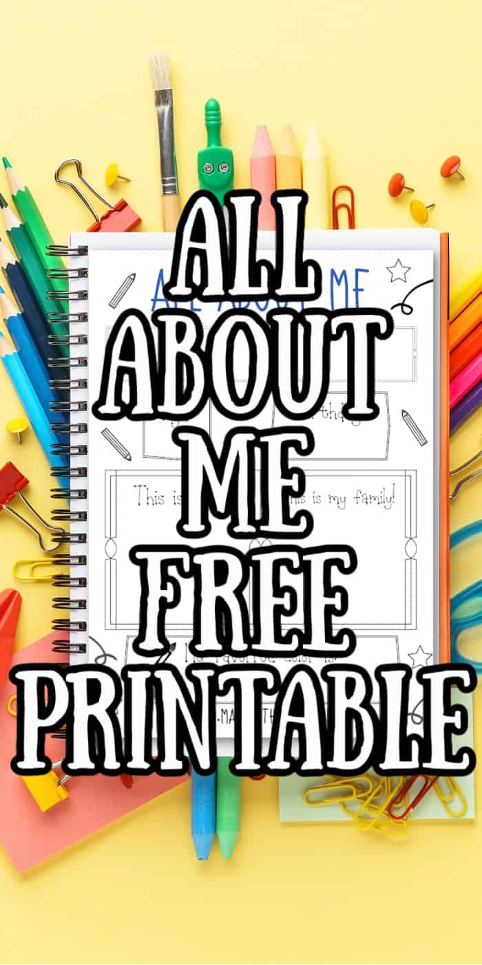 Free printable All about Me Page