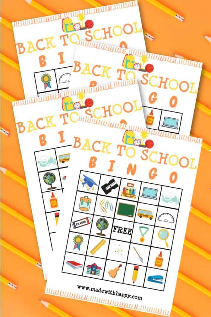 School Bingo Game