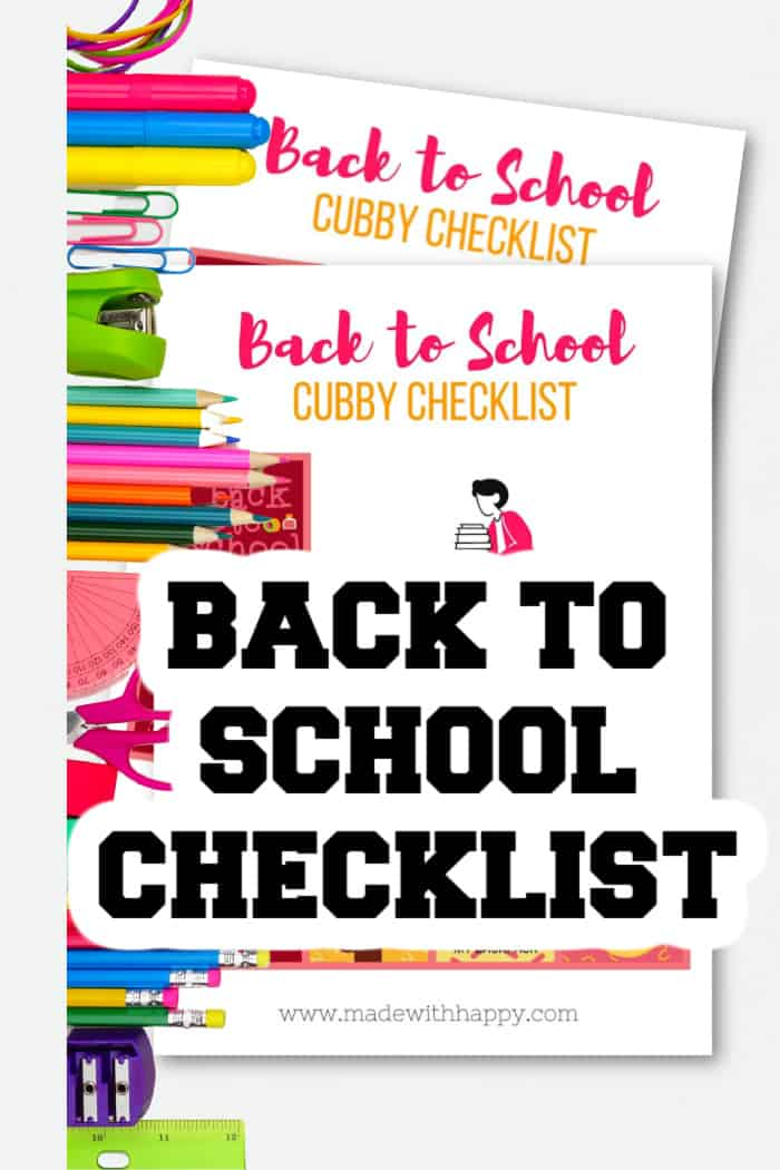 Back to School List