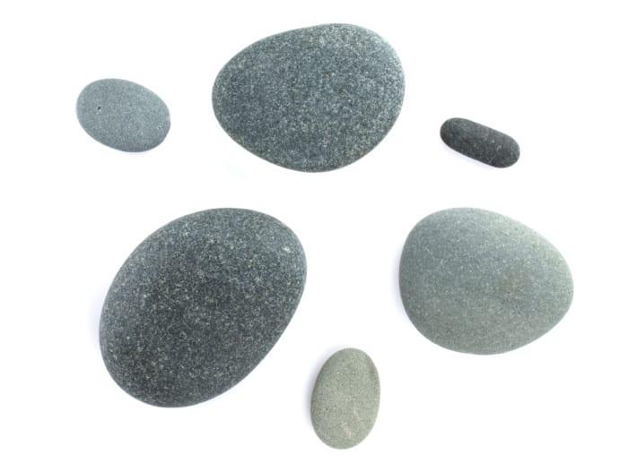 Sea stones. Isolated on white background