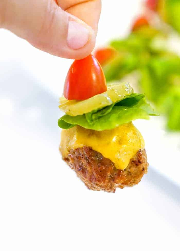 finger meatball appetizer