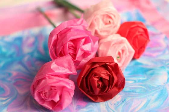 Bunch Tissue paper Roses