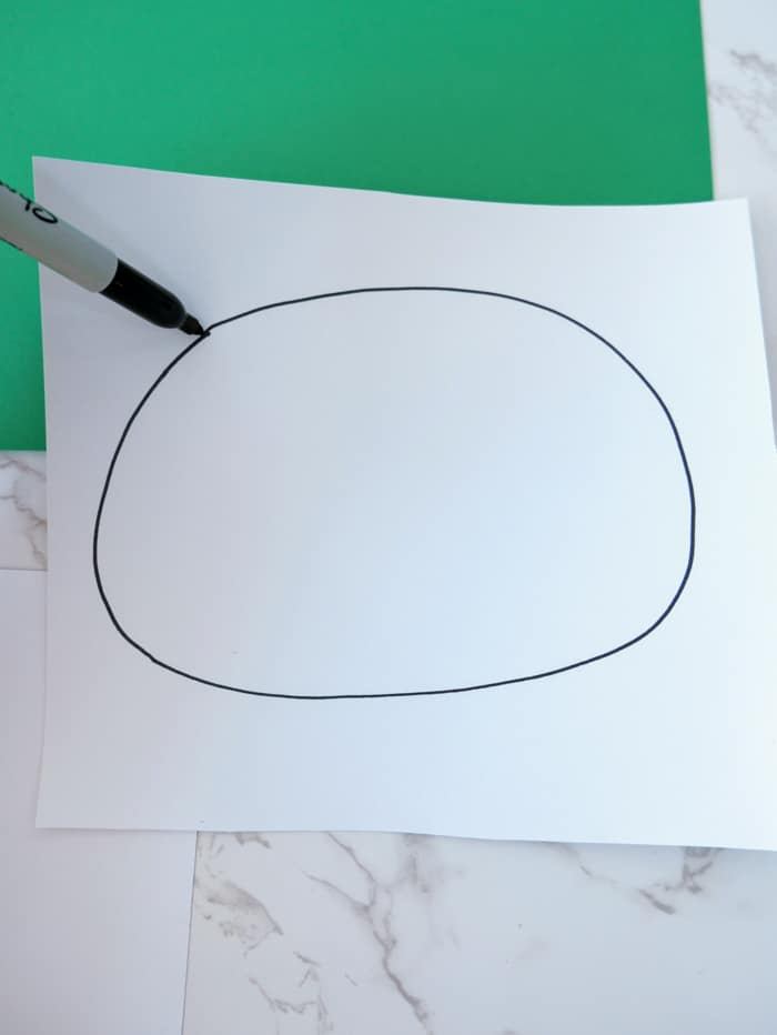 draw oval with sharpie