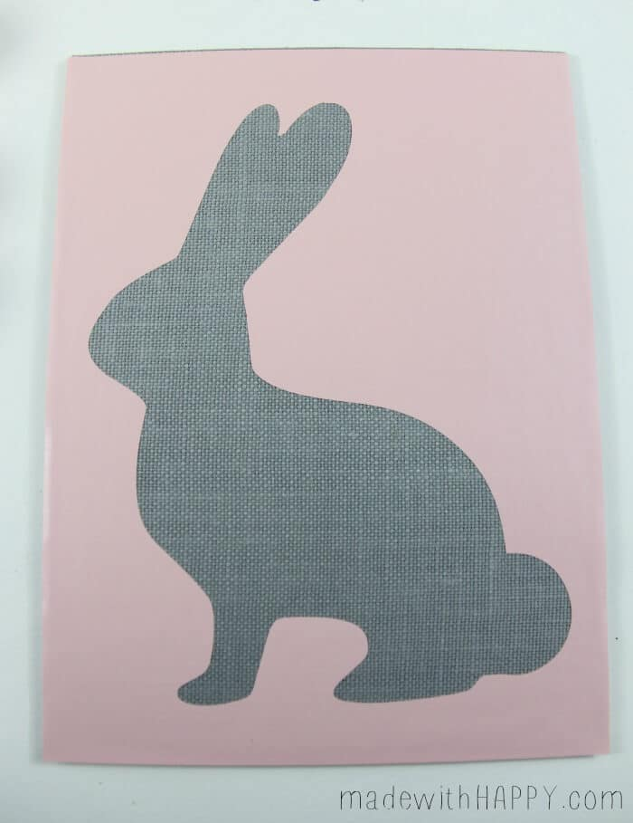 Ombre Burlap Bunny   Easter Bunny Decorations   Pink Bunny Stencil   DIY Easter Decor   www.madewithHAPPY.com