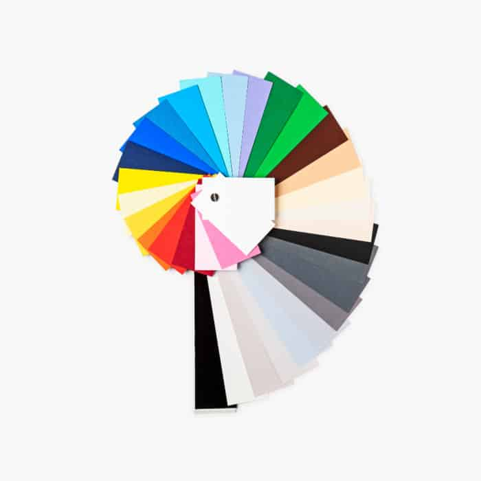 colored cardstock in a spiral shape