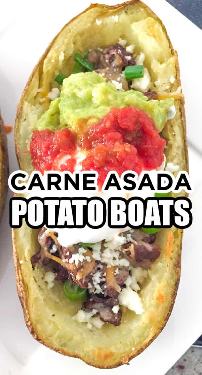 Carne Asada Potato Boats