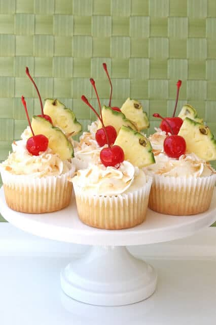 Summer Cupcake Ideas should definitely include these Pina Colada Cupcakes